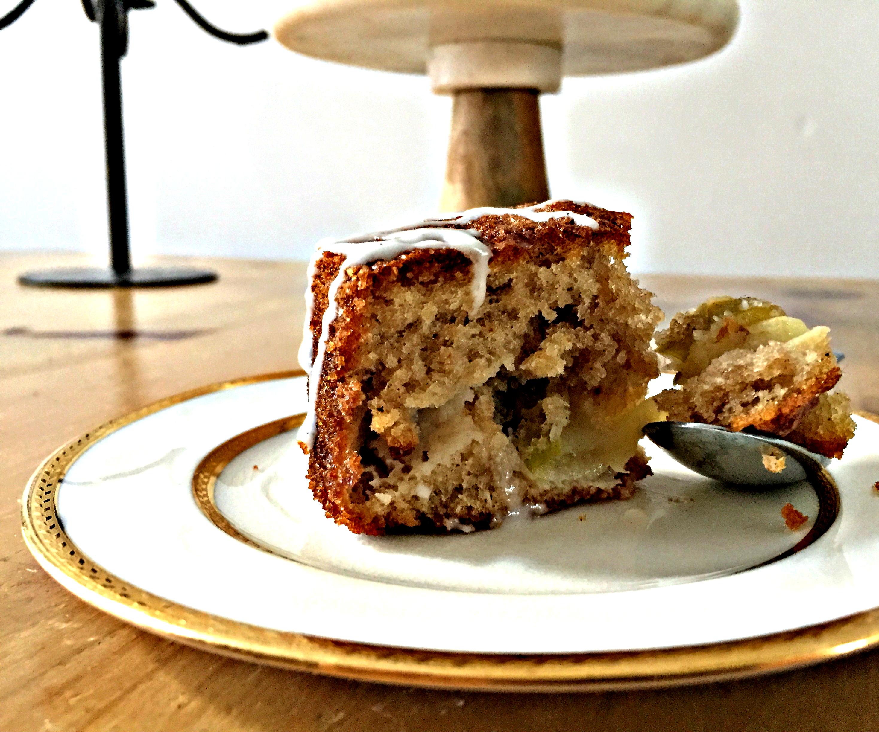 Spiced Apple Cake With a Vanilla Bean Glaze