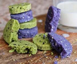 Unusual Colored Tea Cookies Without Dyes