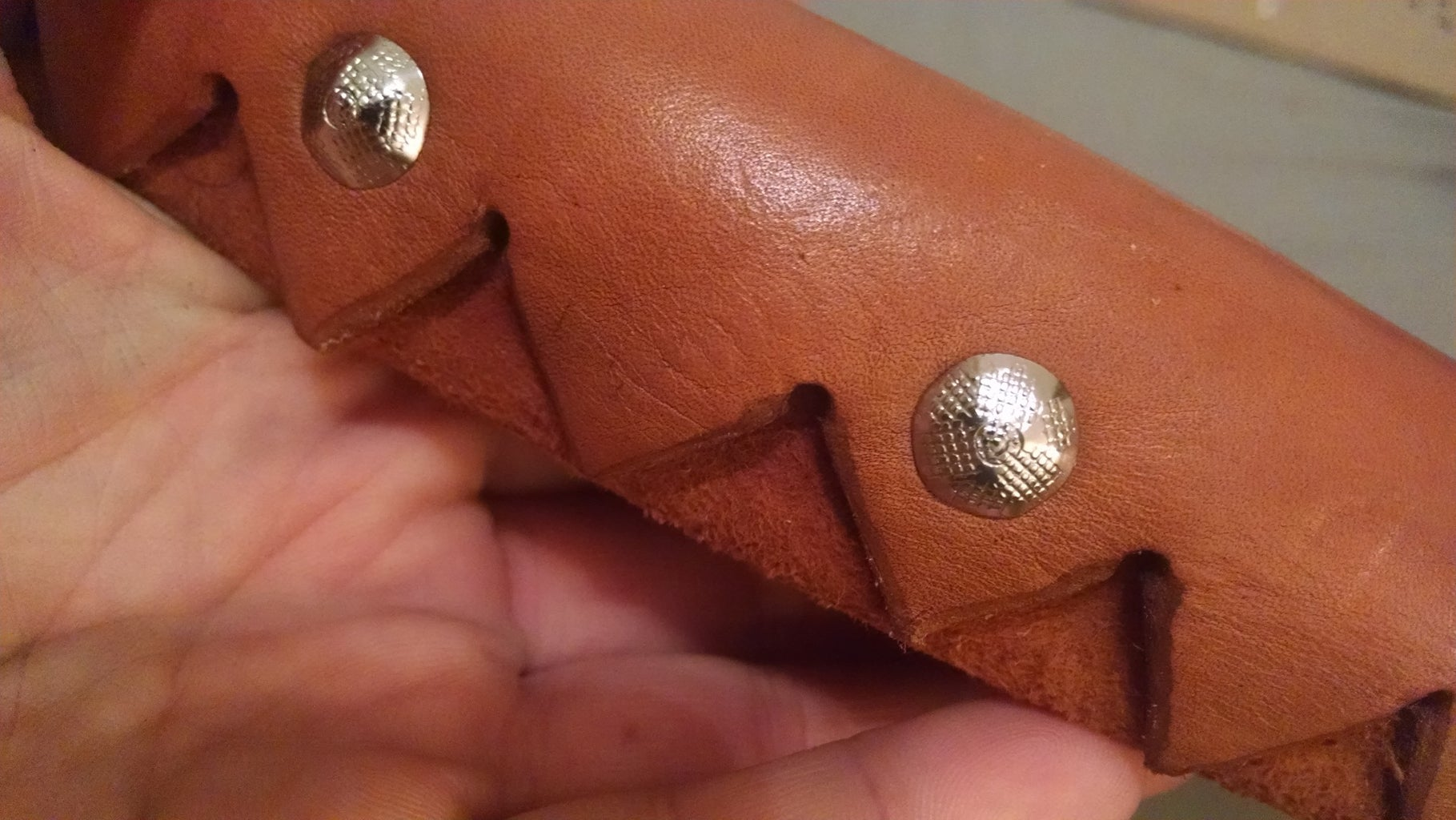 Attach the Leather to the Wood