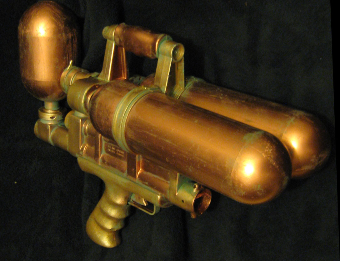 Steampunk tank gun copper and brass with patina