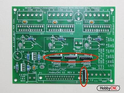 Insert (4) 10K Resistor Networks.