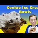 How to Make Chocolate Chip Ice Cream Bowls
