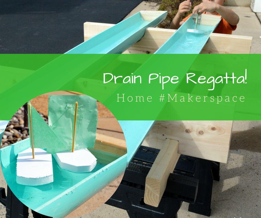 DIY Drain Pipe Regatta (aka Raingutter Regatta)
