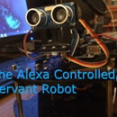 Alfred V.1 - Alexa Voice-Controlled, IoT, Bluetooth, Servant Robot Using Arduino and Raspberry Pi