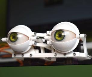 DIY Compact 3D Printed Animatronic Eye Mechanism