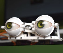 DIY Compact 3D Printed Animatronic Eye Mechanism