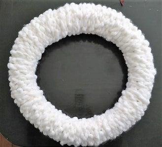 Wrapping the Yarn Around the Wreath