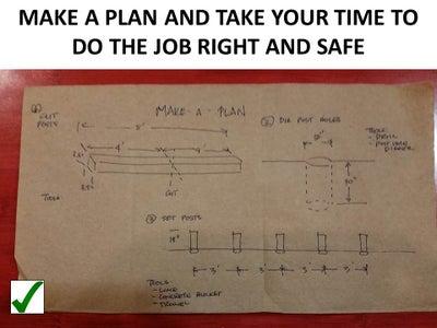 Make a List and Follow a Plan