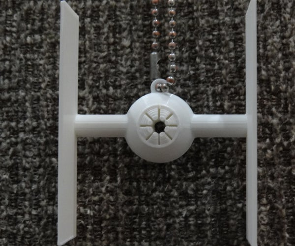 DIY 3D Printed Tie Fighter Necklace (using Tinkercad)