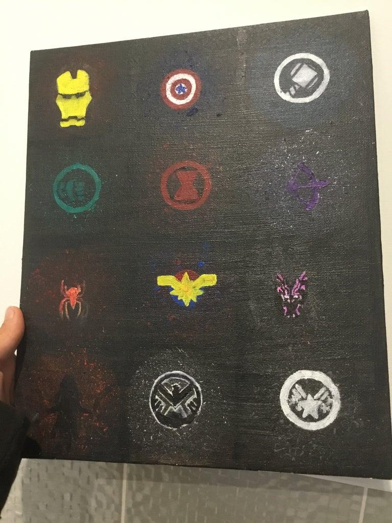 Avengers Splatter Paint Symbols