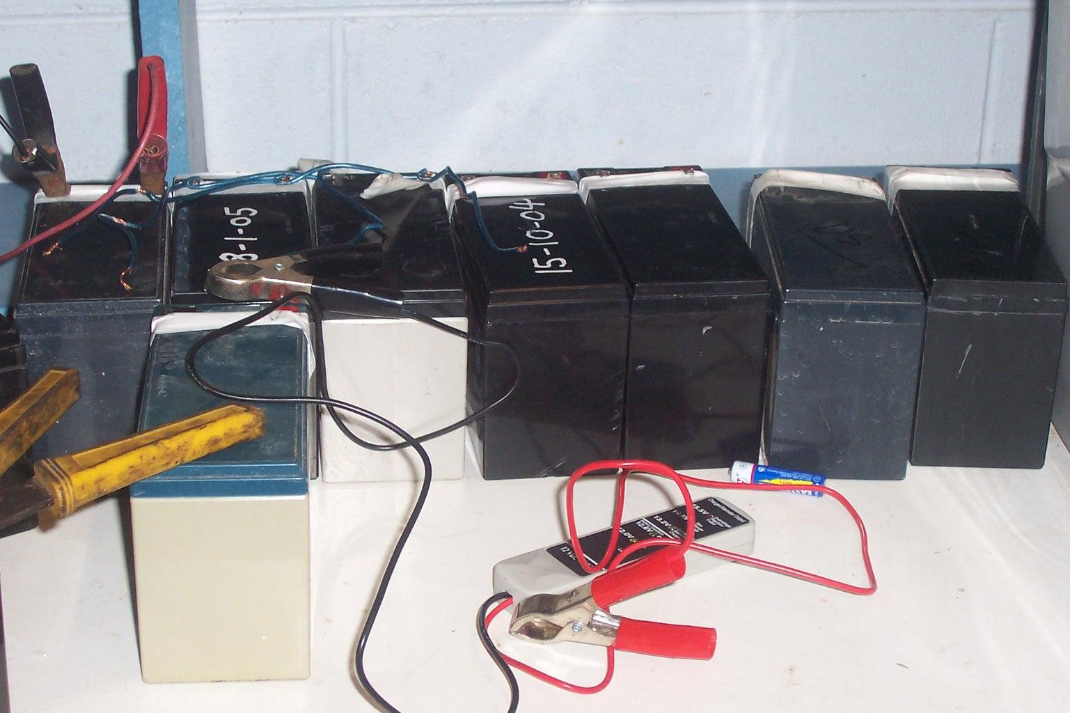 Refilling SLA's (Sealed Lead Acid Battery), Like Refilling a Car Battery