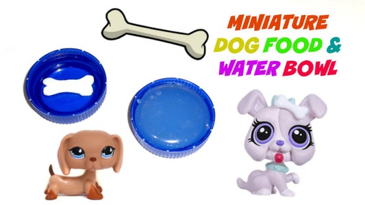 Miniature Dog Food and Water Bowl
