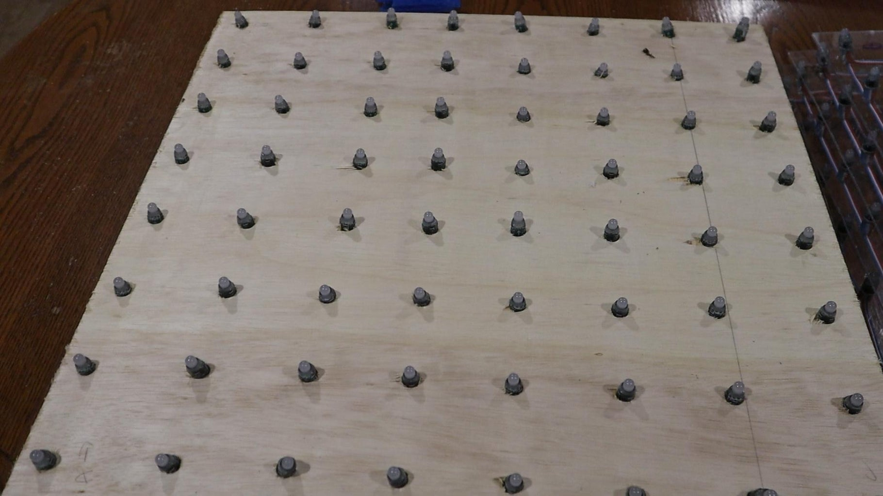 Drill Out Holes for the LEDs