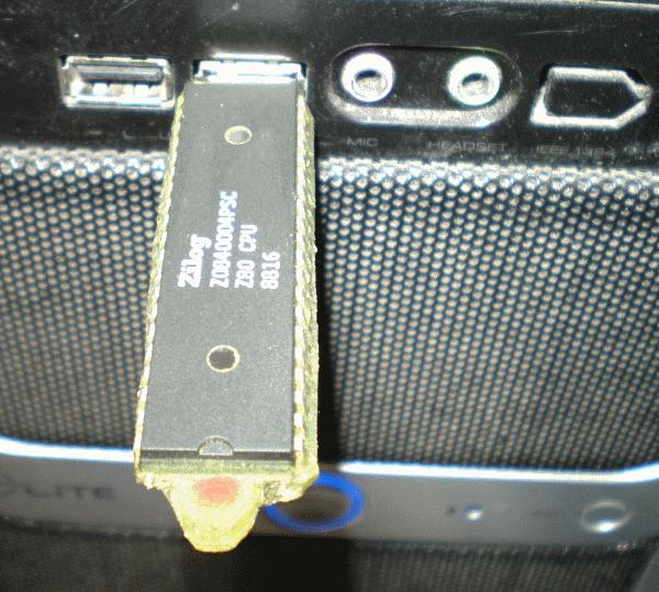 Z80 CPU Thumbdrive