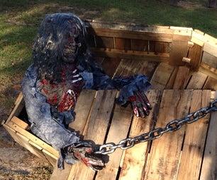 Pallet Coffin for Halloween