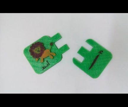 Make educational kids puzzle game with 3d printer