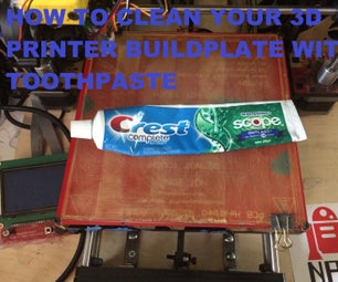 How to Clean a 3D Printer Build Plate