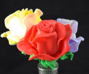样条在3ds Max中建模花朵花朵3D打印