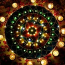 FAIRY LIGHTS RANGOLI WITH CANVAS