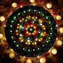 FAIRY LIGHTS RANGOLI WITH CANVAS