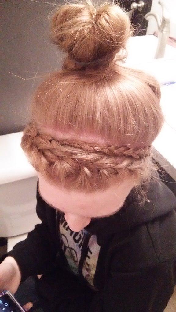 French Braid Around the Head