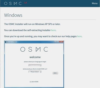 Downloading and Installing OSMC