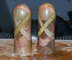 Laminated Salt and Pepper Shakers