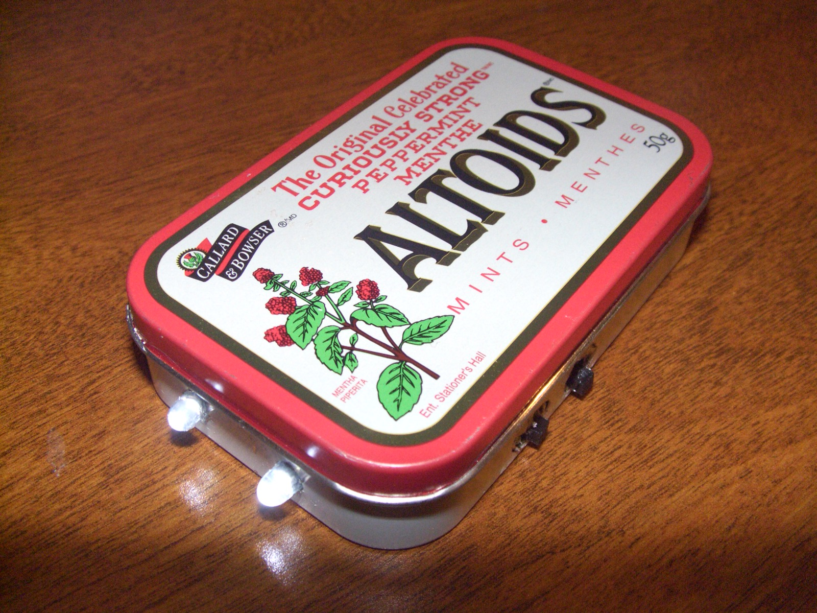 Solar Altoids Flashlight Experiment (SAFE)