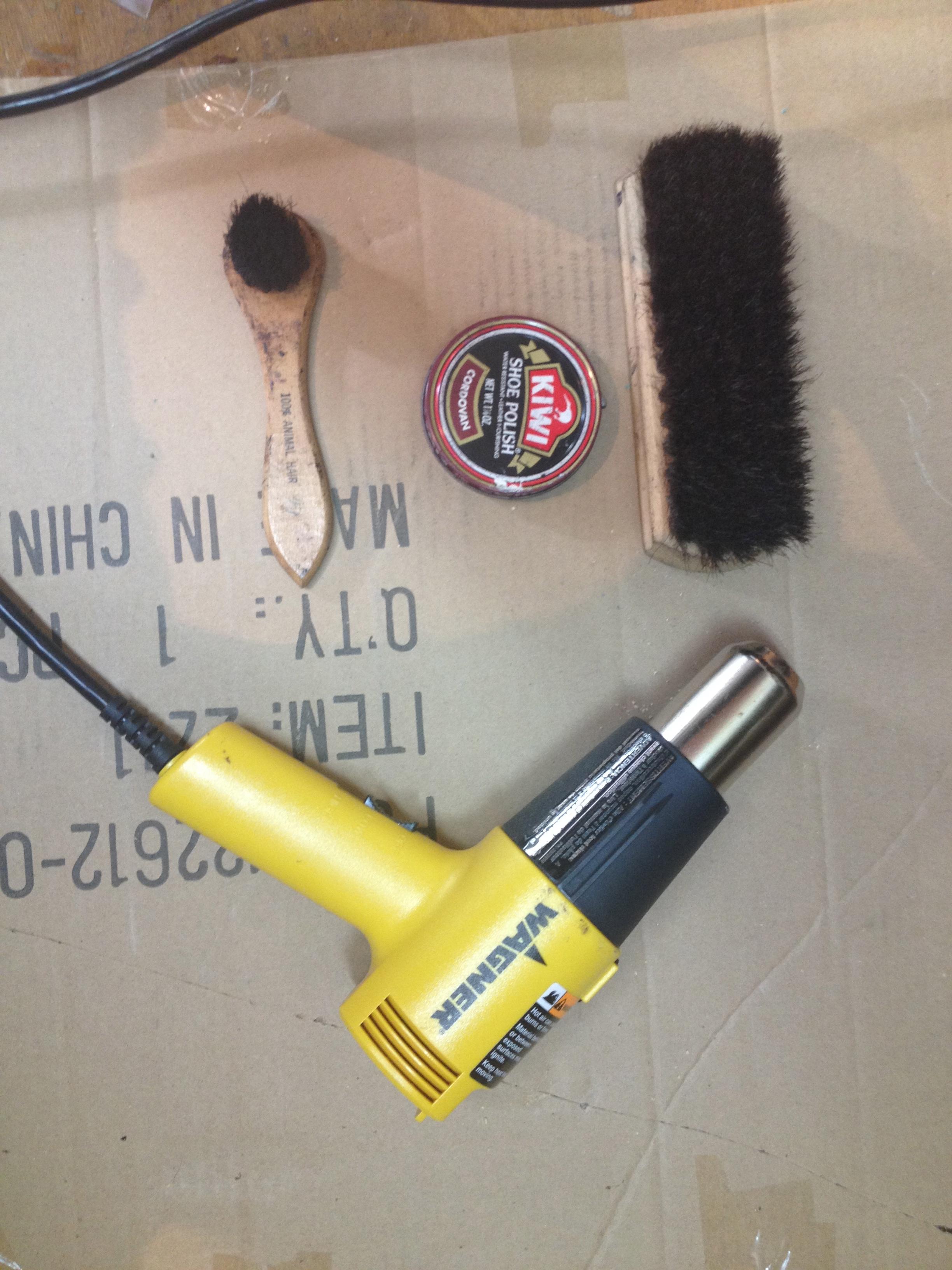 Shoe Polishing Hack: Use a heat gun