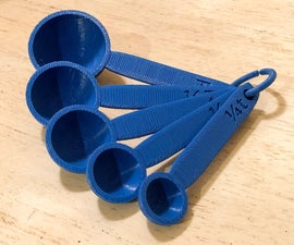 3D Printed Measuring Spoons