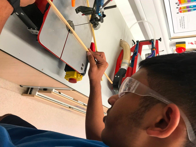 Cutting Teak Wood Strips and Glueing Them on the MDF Board