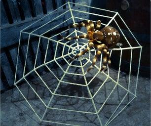 Huge Spider's Web Made of an Umbrella