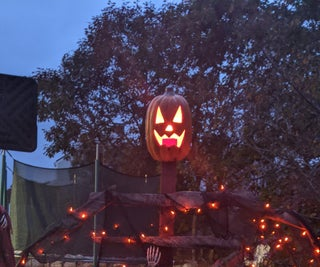 Pumpkin Scarecrow Decoration