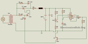 9V Battery Charger Circuit using LM311