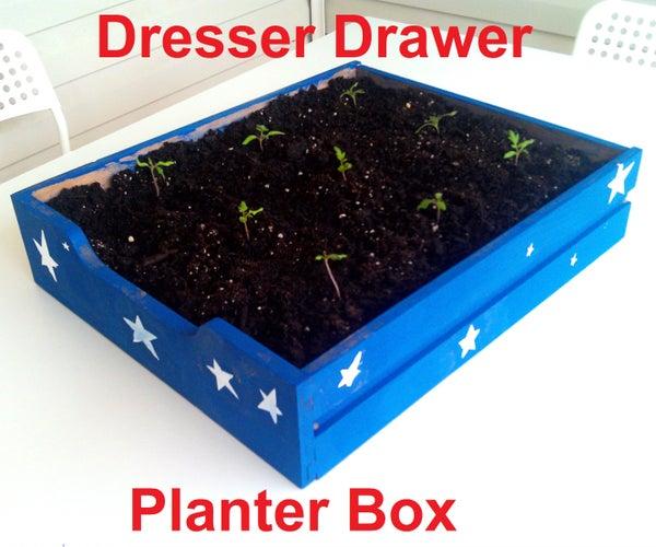 Dresser Drawer Planter Box