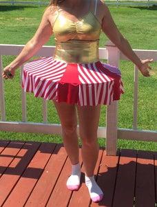 Sew Waist, Sew Waist to Circle Skirt, Slip Over Top Ring.