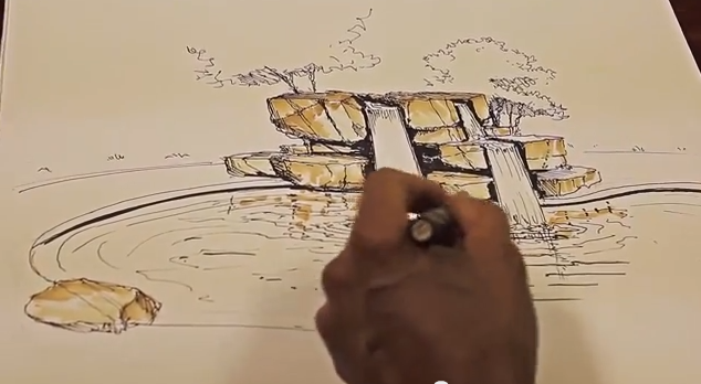 How To Draw Landscapes and Waterfalls