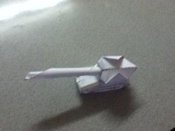 Origami Combat Tank