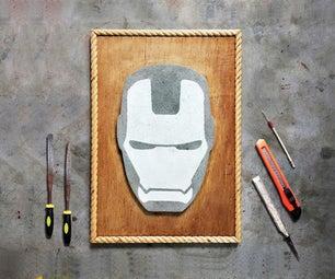 Iron Man - Helmet   Cement Wall Art