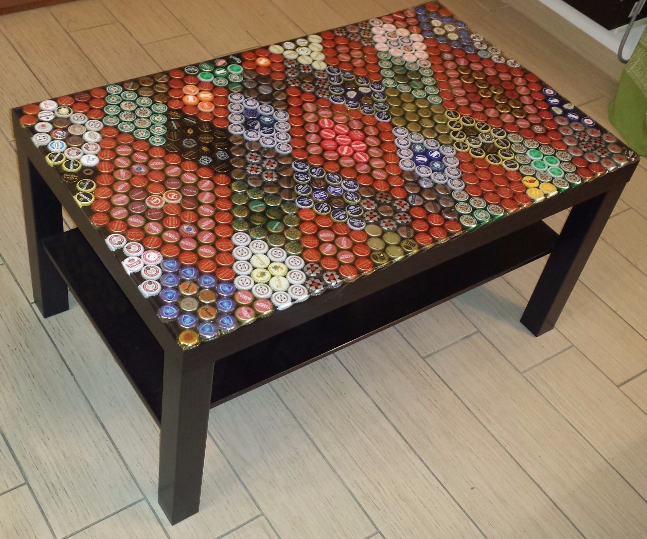Beer caps table top