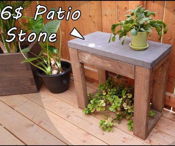 如何建立一个户外木制边桌