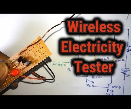 Simple Wireless Electricity Tester