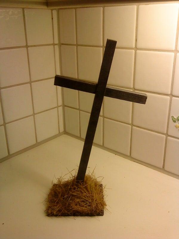 Graveyard Cross for Halloween
