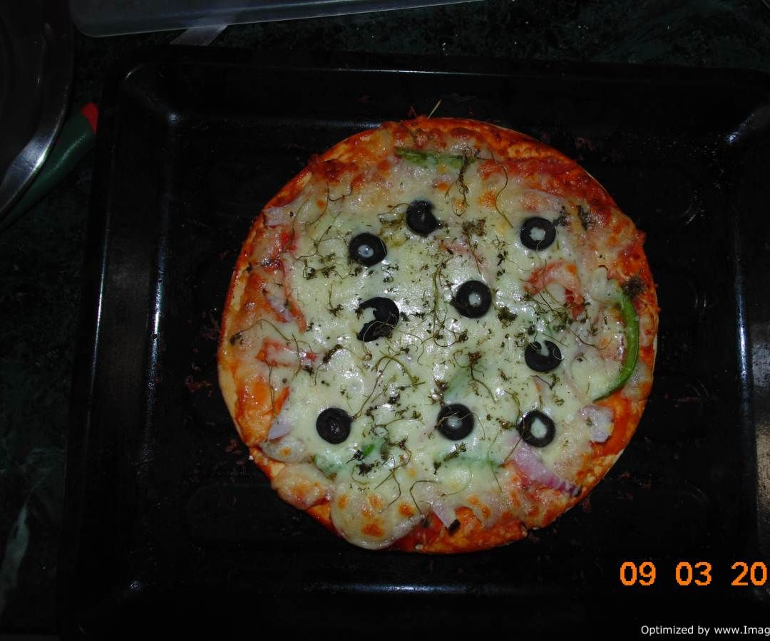 Daddy's recipe Vegetarian PIZZA