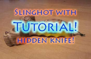 How to Make a Hidden Knife Slingshot! ⇔ the Art of Weapons