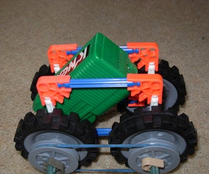 K'nex Simple 4 Wheel Drive Car