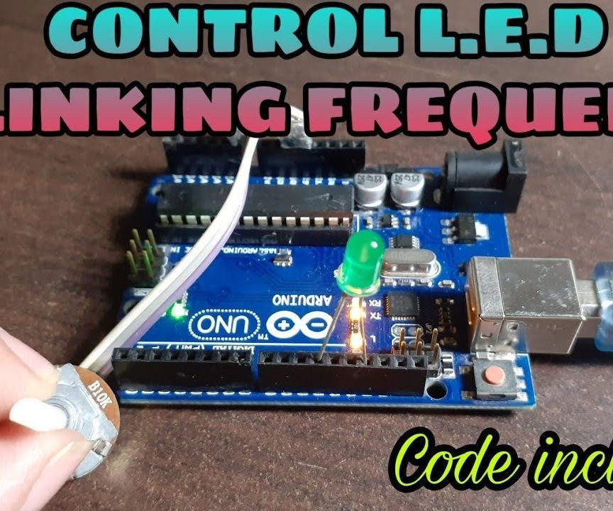 L.E.D. BLINKING FREQUENCY CONTROLLER