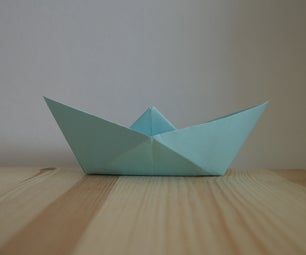 Origami. How to Make a Boat Out of Paper