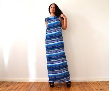 ♥ DIY No Sew MAXI DRESS in 5 Minutes