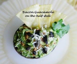 Bacon Guacamole On~the~half~shell
